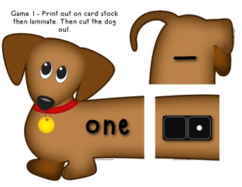 Number Dogs - 3 Math Center Games - Ways to Show numbers 0-20