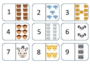 Number Dominoes 1-10