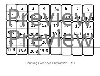 Number Dominoes Subtraction Version 0-20