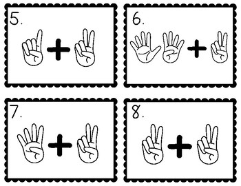 Number Doodles Secret Sums - Adding Two Facts Task Cards