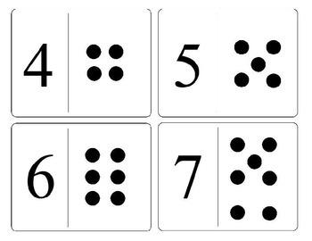 Number Dot Cards