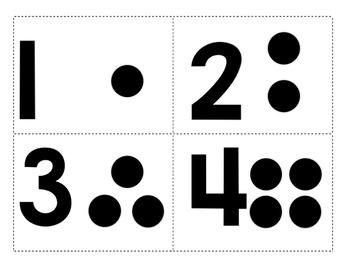 number dot flash cards by time 4 kindergarten teachers. Black Bedroom Furniture Sets. Home Design Ideas