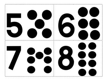 Number Dot Flash Cards