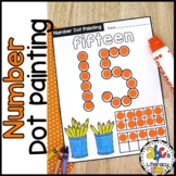 Number Dot Painting Worksheets (Bingo Dauber Activity)