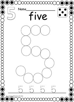 Number Dots - 1 to 20 Number Recognition Worksheets