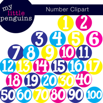 Number Dots Clipart Posters
