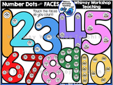 Number Dots with Faces Clip Art - Whimsy Workshop Teaching
