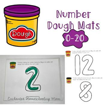Number Dough Mats
