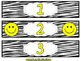Smiley Face, Happy Face Number Drawer Labels