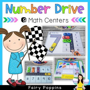 Number Drive {Road Mats} & Math Centers (0 to 20)