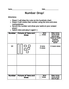 Number Drop - tens and ones