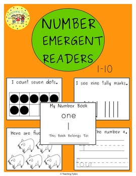 Numbers 1-10 Emergent Readers