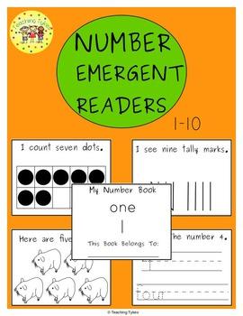 Numbers 1-10 Emergent Readers