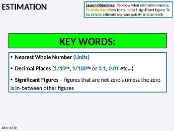 Number: Estimation 1 - Introduction and Basics