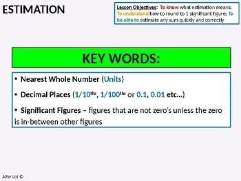 Number: Estimation 2 - Problems involving Decimals (+ worksheets)