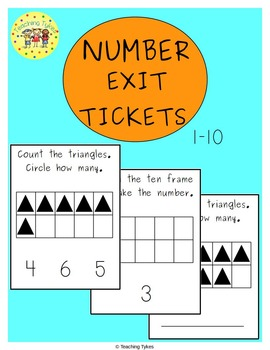 Numbers 1-10 Exit Tickets