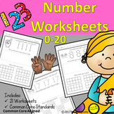 Number Writing 1-20 No Prep Worksheets