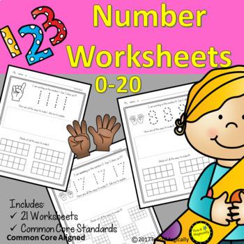Number Writing 1-20 No Prep Worksheets