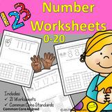 Teaching Number Writing 1-20 Worksheets No Prep BUNDLE