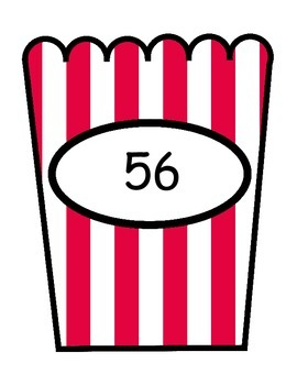 Number Expression Match Up - All 4 Operations - Popcorn Theme