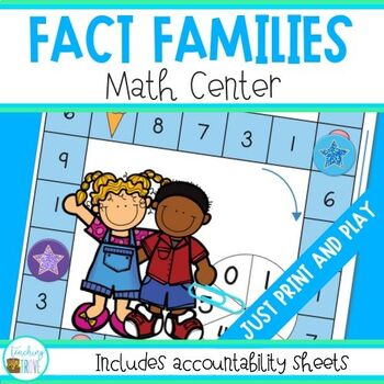 Number Fact Families Math Center