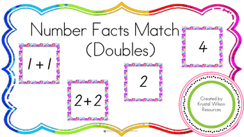 Number Fact Match up - Doubles