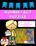 Number Fact Puzzles and Recording Sheet **B&W AND Color!!**