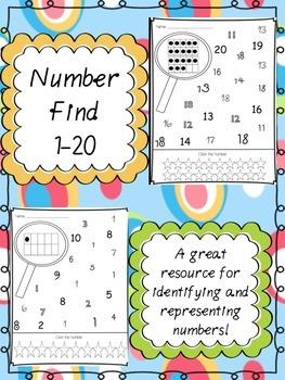 Number Find 1-20
