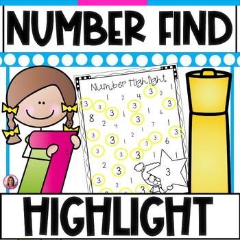 Number Find & Highlight (Recognizing Numbers 0-20) Highlig
