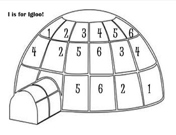 Number Find - Igloo Themed