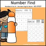 Number Find - No Prep Printable
