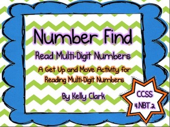 Number Find- Reading Multi-Digit Numbers Activity