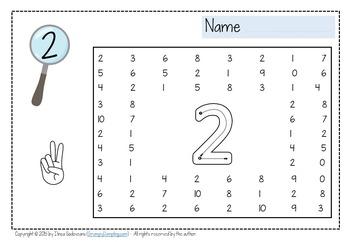 Number Find Worksheets {1-10}