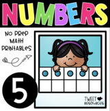 All About the NUMBER FIVE~ NO PREP Number Sense Kindergarten Math Printables