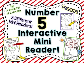 Number Five Interactive Mini Readers- FREEBIE!!