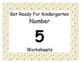 Number Five Worksheet Pack