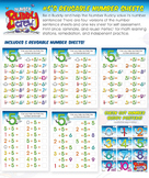 Number Five's Reusable Number Sheets
