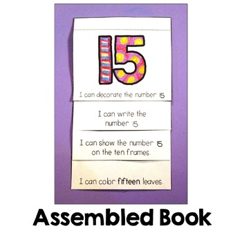 Kindergarten Math:  Numbers 1-20 Mini-Books