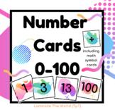 Number Flash Cards 0-100 *90s Retro Design*