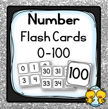 Number Flash Cards: 0-100 {Math Centre Manipulatives}