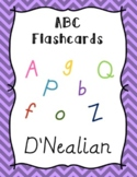ABC Posters and Flash Cards with Pictures, Letters, and Words D'Nealian Font
