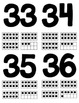 Number Flash Cards 0-40 with Tens Frames