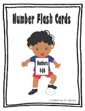 Number Flash Cards 0-50 with Boy