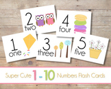 Number Flash Cards 1-10