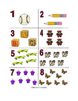photo relating to Printable Number Flashcards called Amount Flash Playing cards: 1-10 (printable)