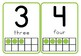 Number Flash Cards 1-10 with Ten Frames and Number Words