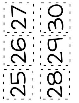 Number Flash Cards: 1-100