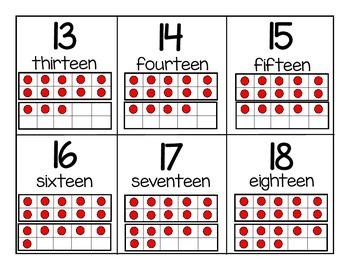 Number Flash Cards 1-20