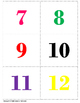 Number Flash Cards 1 - 20
