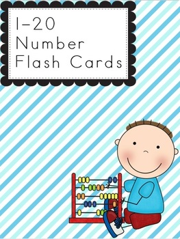 Number Flash Cards 1-20 **Printer Friendly!**